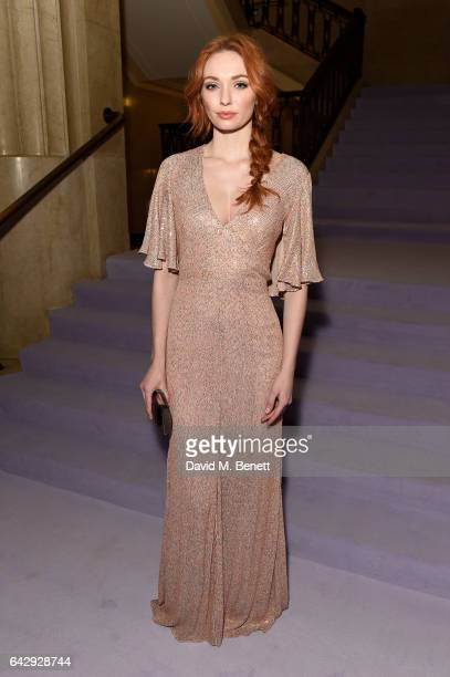 Eleanor Tomlinson attends the Temperley London FW 17 Fashion Show on February 19 2017 in London England
