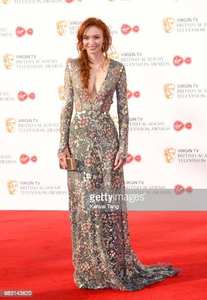 Eleanor Tomlinson attends the Virgin TV BAFTA Television Awards at The Royal Festival Hall on May 14 2017 in London England