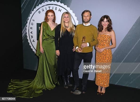 Eleanor Tomlinson Jennifer Ericsson Rene Pannevis and Ophelia Lovibond pose and at The British Independent Film Awards Old Billingsgate Market on...
