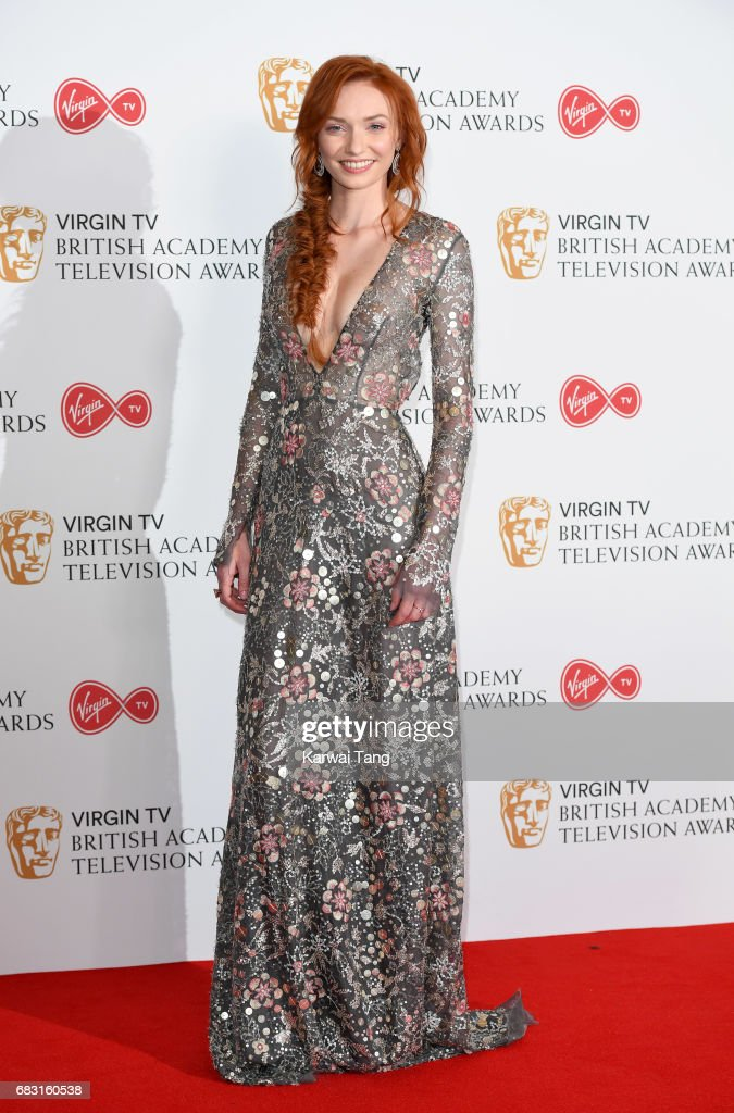Eleanor Tomlinson poses in the Winner's room at the Virgin TV BAFTA Television Awards at The Royal Festival Hall on May 14, 2017 in London, England.