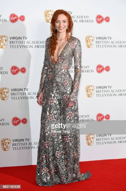 Eleanor Tomlinson poses in the Winner's room at the Virgin TV BAFTA Television Awards at The Royal Festival Hall on May 14 2017 in London England
