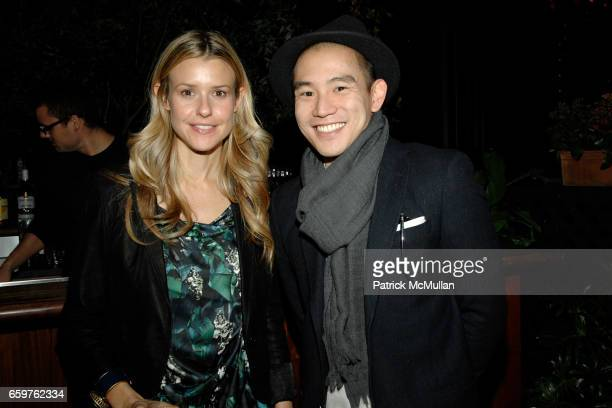 Eleanor Ylvisaker and Eugene Tong attend Elena Kiam Dani Stahl Host a Preview of the LIA SOPHIA MIDNIGHT II COLLECTION at Gramercy Park Hotel on...