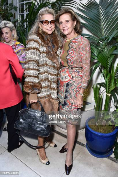 Eleanora Kennedy and Monica Noel attend QUEST VHERNIER Host Luncheon at MAJORELLE at Majorelle on October 17 2017 in New York City