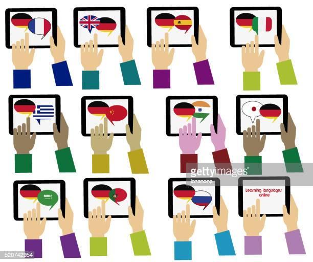 E-learning. Tedesco, un vocabolario. Apprendimento di lingue online