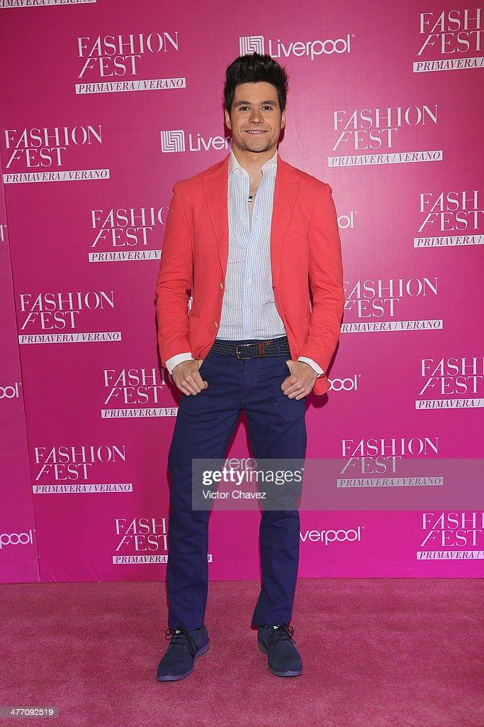 Eleazar Gomez attends the Liverpool Fashion Fest Spring/Summer 2014 at Hipodromo de las Americas on March 6, 2014 in Mexico City, Mexico.