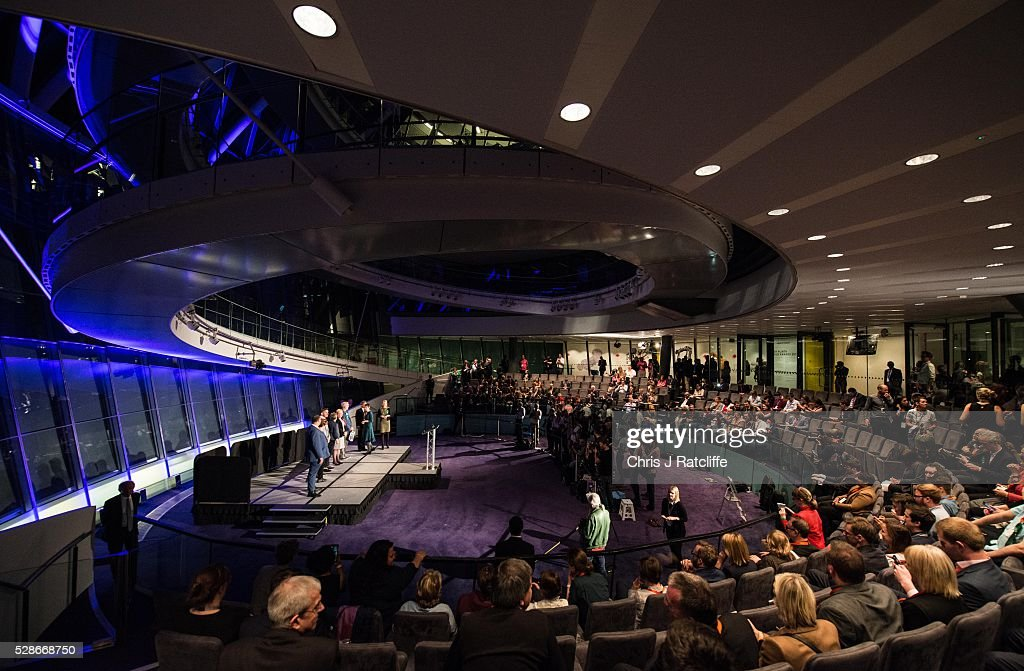 Elected members of the London Assembly are announced on stage at City Hall on May 06, 2016 in London, England. This is the fifth mayoral election since the position was created in 2000. Previous London Mayors are Ken Livingstone for Labour and more recently Boris Johnson for the Conservatives. The main candidates for 2016 are Sadiq Khan, Labour, Zac Goldsmith, Conservative, Suan Berry, Green, Caroline Pidgeon, Liberal Democrat, George Galloway, Respect, Peter Whittle, UKIP and Sophie Walker, Wonmen's Equality Party.
