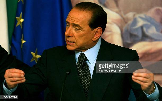 Election in Italy press conference of Silvio Berlusconi after his defeat Berlusconi refused to concede defeat in Italy's general elections saying...