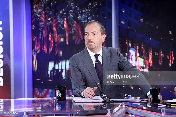 COVERAGE Election Night 2016 Pictured Chuck Todd Moderator 'Meet the Press with Chuck Todd' on Tuesday November 8 2016 in New York