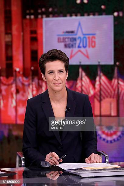 COVERAGE Election Night 2016 Pictured Rachel Maddow Host 'The Rachel Maddow Show' on Tuesday November 8 2016 from New York