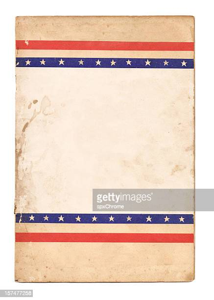 Election poster with stars and stripes