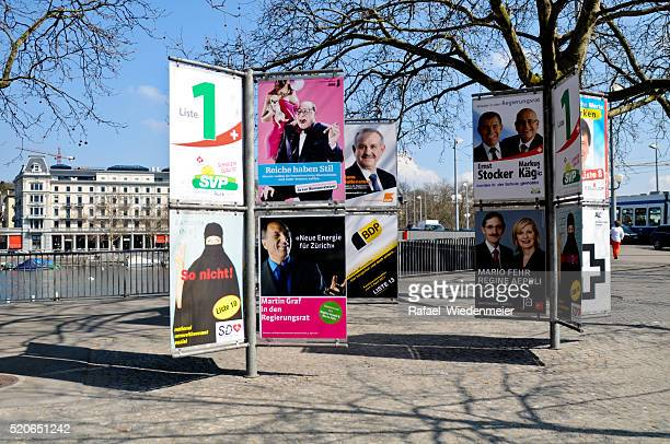 Election posters in Zurich