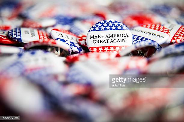 Election Vote Buttons - Make America Great Again