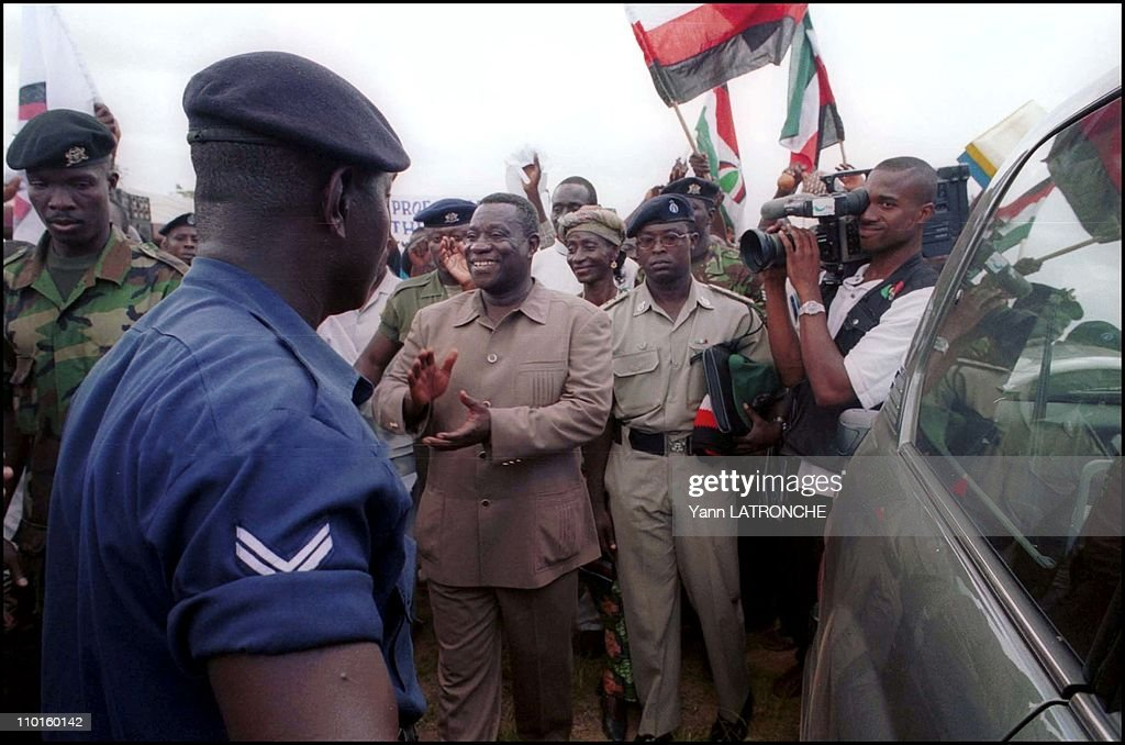 Elections, Illustration in Accra, Ghana in October, 2000 - <a gi-track='captionPersonalityLinkClicked' href=/galleries/search?phrase=John+Atta+Mills&family=editorial&specificpeople=2650122 ng-click='$event.stopPropagation()'>John Atta Mills</a>, vice president of Ghana, National Democratic Congress candidate for the elections.