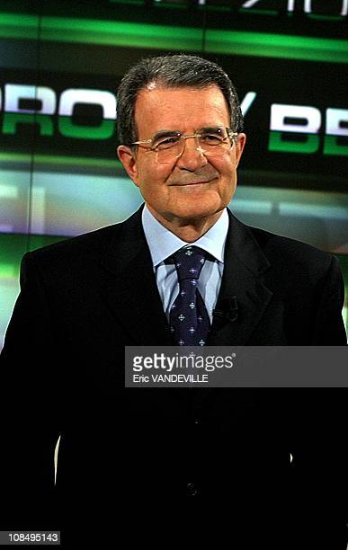 Elections in Italy TV debate with PM Silvio Berlusconi and opposition leader Romano Prodi Italy's PM Silvio Berlusconi and rival Romano Prodi have...