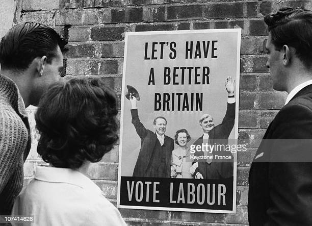 Electoral Poster Of Labour Party In Great Britain On September 1959