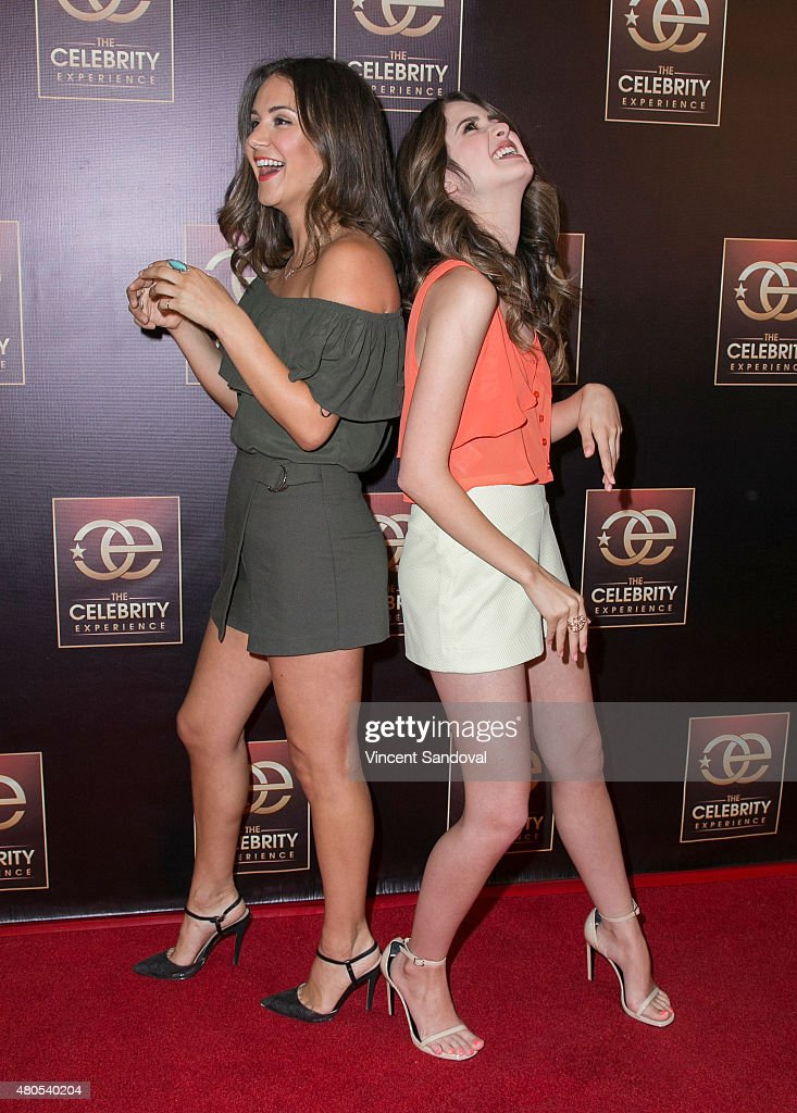 Electra Formosa (L) and actress Laura Marano attend The Celebrity Experience panel at Universal Hilton Hotel on July 12, 2015 in Universal City, California.