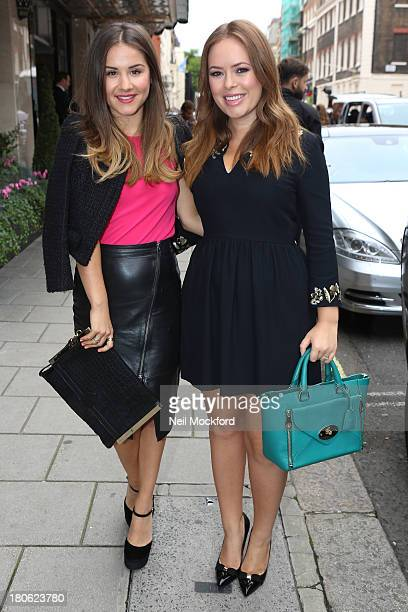 Electra Formosa and Tanya Burr seen at the Mulberry Show on September 15 2013 in London England