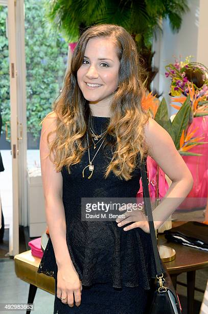 Electra Formosa attends a Tropical Fete with floral workshop by celebrity stylist Martha Ward and Wild at Heart at the Kate Spade New York Sloane...