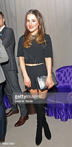Electra Formosa attends the launch of Tanya Burr by eye CANDY an exclusive collection of lip glosses and nail polishes at The Sanderson Hotel on...