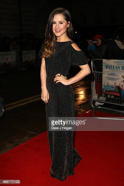 Electra Formosa attends the UK Premiere of 'Dallas Buyers Club' at The Curzon Mayfair on January 29 2014 in London England