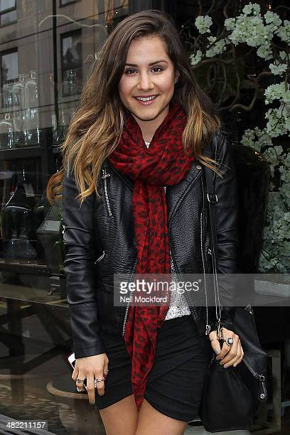 Electra Formosa seen arriving at Jamie Aston Flowers as she takes part in a flower arrangement master class on April 3 2014 in London England