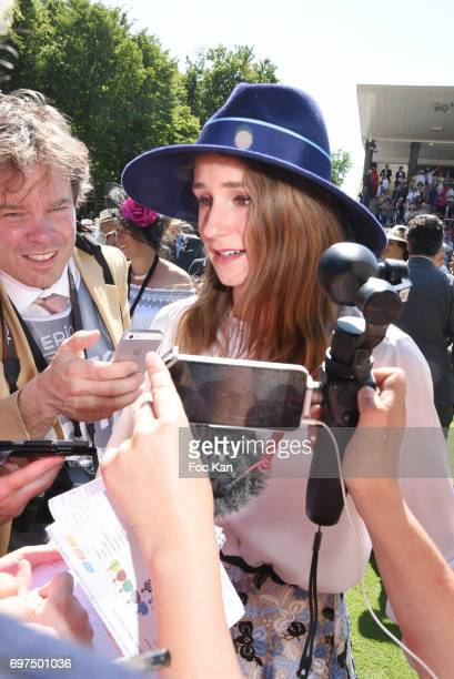 Electra Niarchos attends the 'Prix de Diane Longines 2017' on June 18 2017 at Chantilly France