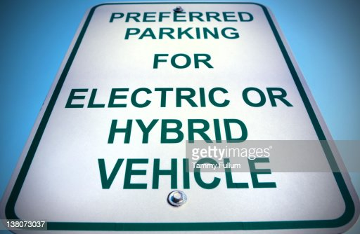 Electric and Hybrid Cars Sign