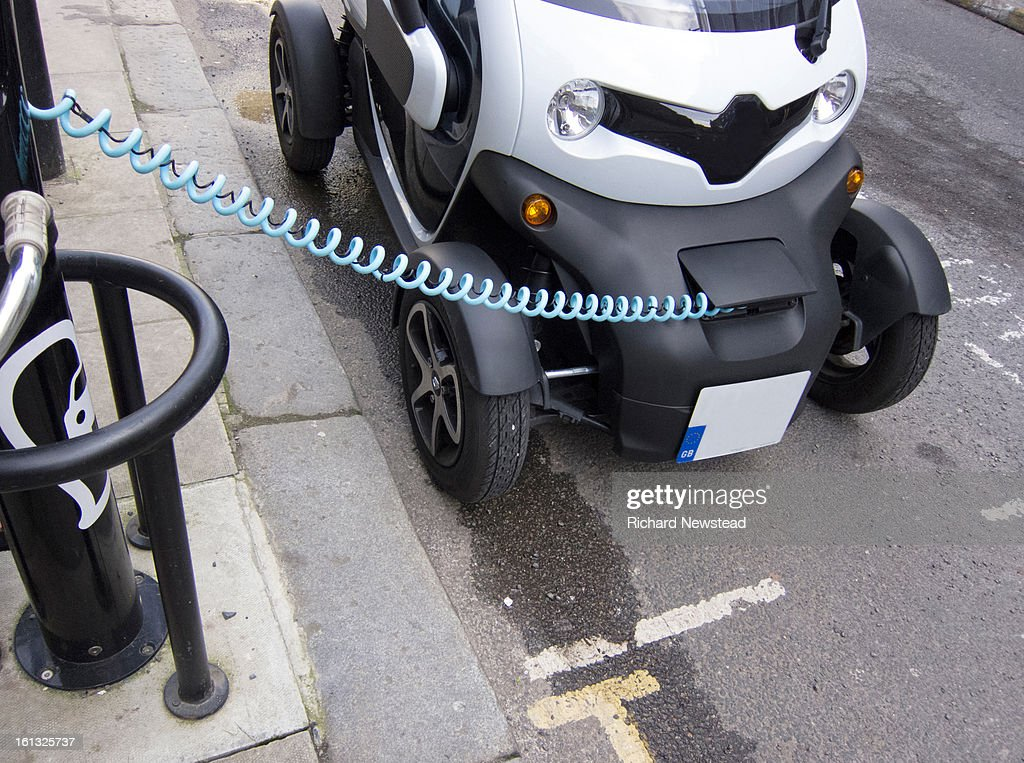 Electric Car Charge : Stock Photo
