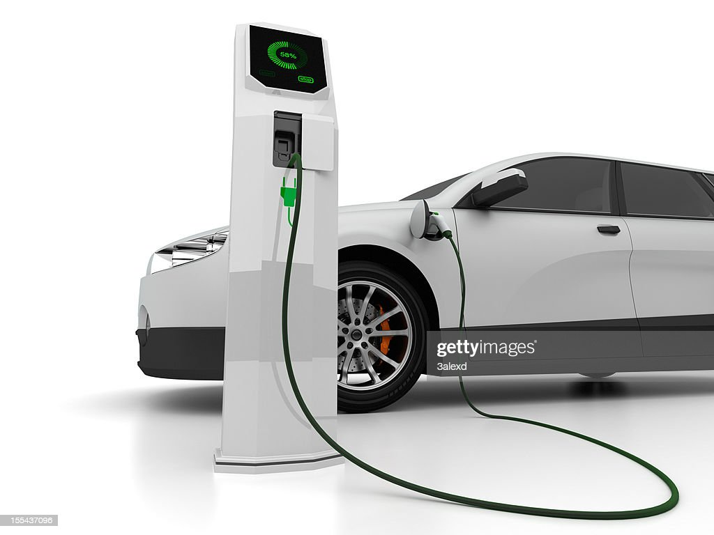 Electric car charging at compute-controlled spot