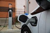 Electric Car Charging at Public Charging