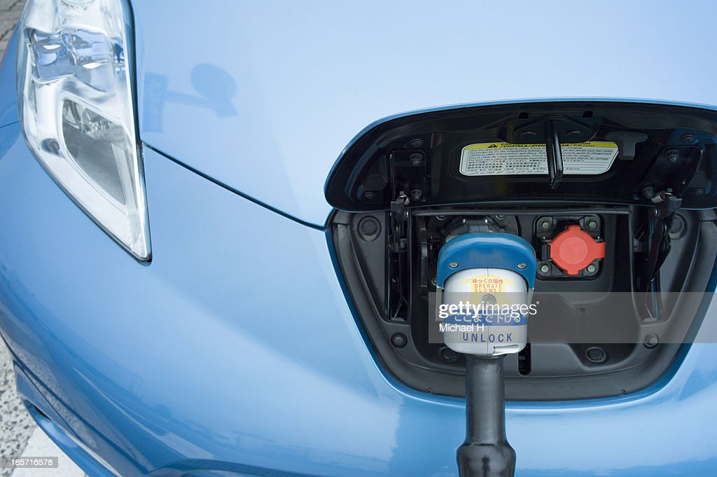 Electric car charging unit
