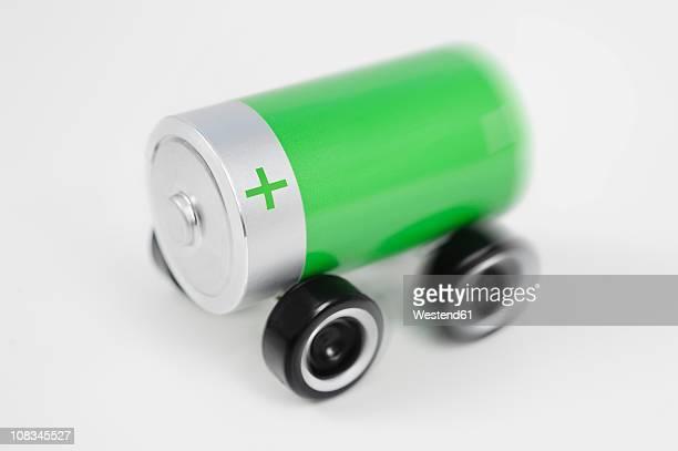 Electric car, close up