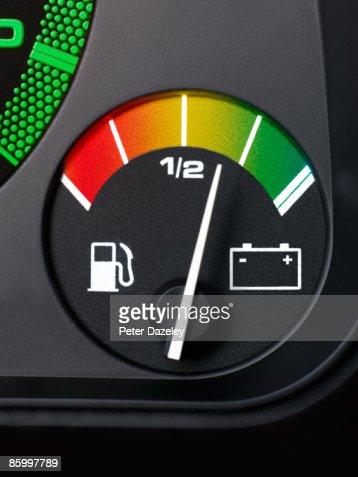 Electric car fuel gauge.