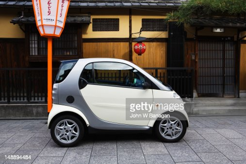 Electric car, Gion district. : Stock Photo