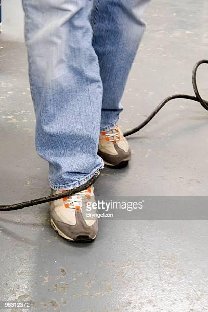 Elektrische Kabel Stolpern Hazard