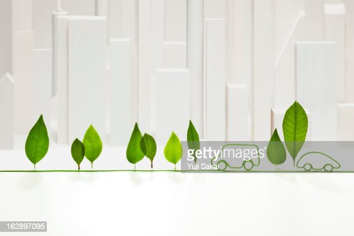 electric cord  with standing leaves  in front of w