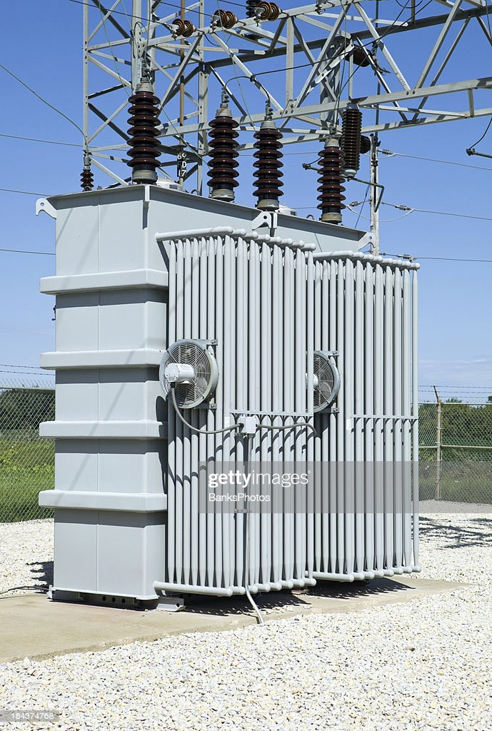 Electric distribution substation transformer stock photo for Distribution substation