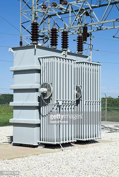 Substation Transformador de distribución eléctrica