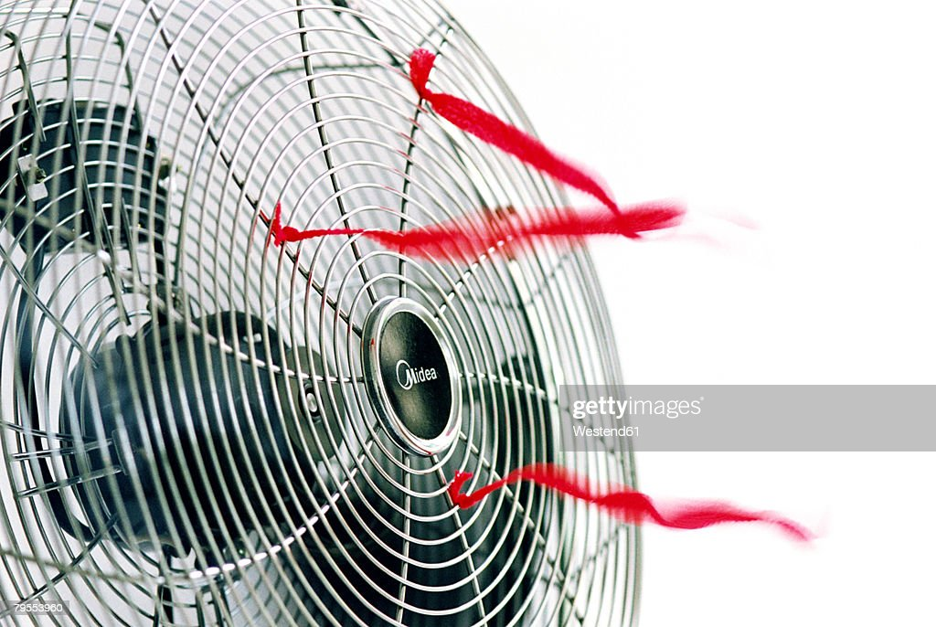 'Electric fan, close up' : Stock Photo