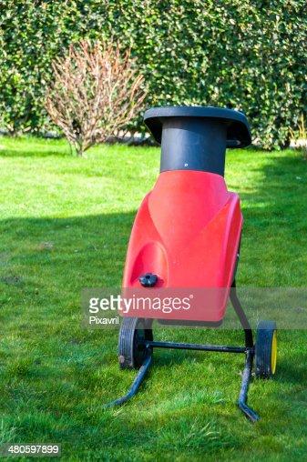 Electric garden shredder : Stock Photo