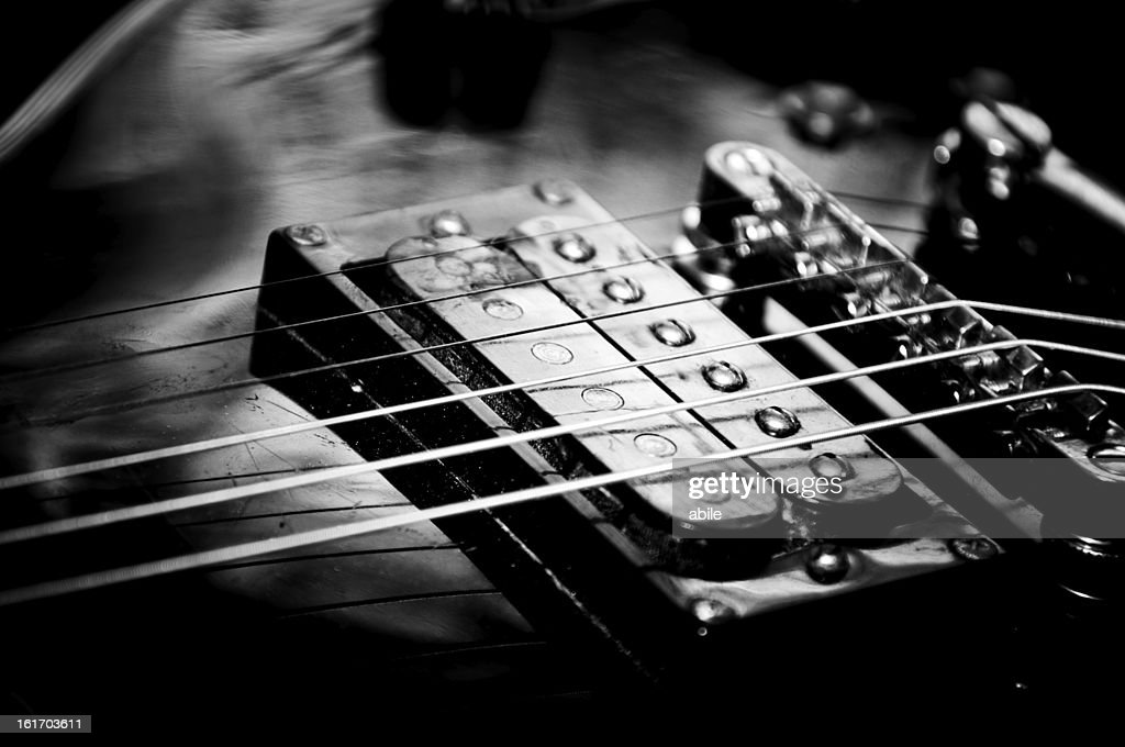 Electric guitar in b/w : Stock Photo