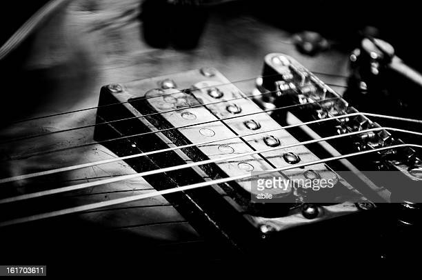 Electric guitar in b/w
