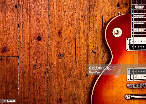 Guitare électrique sur bois