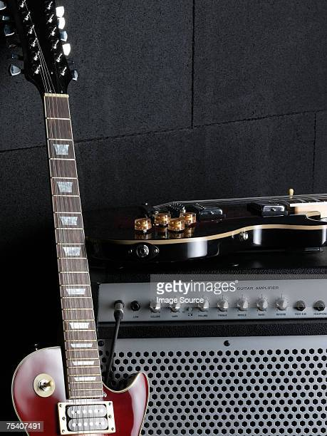 Electric guitars and amplifier