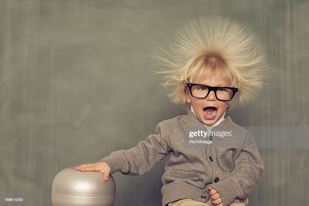 Electric Hair : Stock Photo