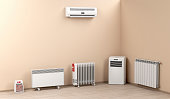 Different types of domestic electric heaters