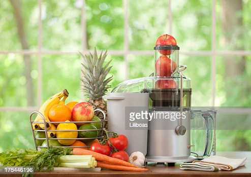 Electric Juice Machine with Fruit and Vegetables