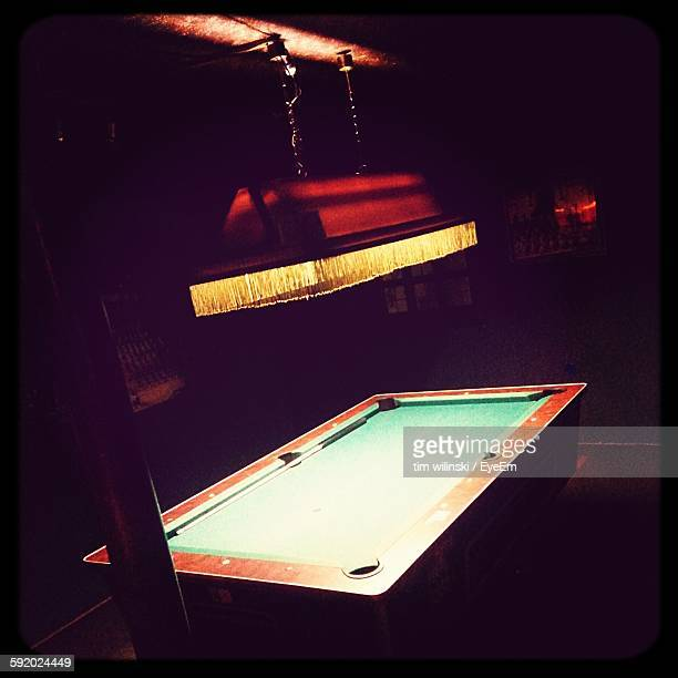 Electric Light Above Pool Table