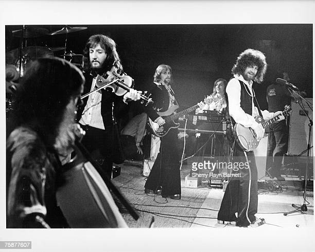 NORTHRIDGE CA NOVEMBER 1974 Electric Light Orchestra performs in a concert on the campus of California State University Northridge in November 1974...