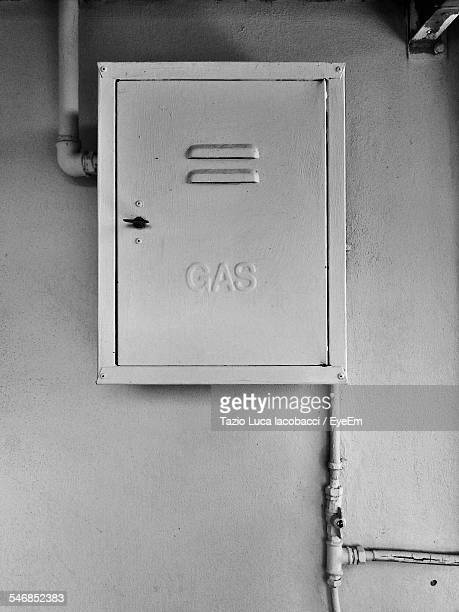 Electric Meters On Wall
